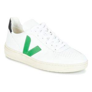 Veja V-10 white/green/navy Men's Shoes